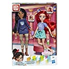 Disney Prinzessinnen Comfy Squad Ariel und Pocahontas, Puppen zum Film Chaos im Netz mit Freizeit-Outfit und Zubehör