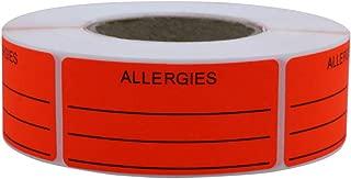Hybsk Allergies Sticker Fluorescent Red Allergy Stickers/1