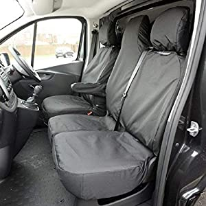 Custom Covers SC147B Tailored Heavy Duty Waterproof Front Seat Covers Black