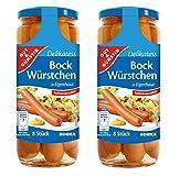 2 botes Salchichas frankfurt Gigantes (20cm aprox) tarro 1000gr (720g escurrido) 2x1000gr Bock Würstchen