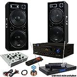 Partido PA 3000W altavoces estéreo USB SD MP3 Bluetooth Amplificador mezclador de micrófono...
