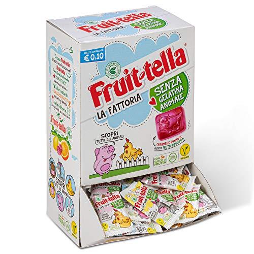 Fruittella La Fattoria Caramelle Gommose al Gusto Frutti Assortiti con Succo di Frutta, Vegan senza Gelatina Animale e senza Glutine, Caramelle Incartate Singolarmente, Box da 200 Pezzi