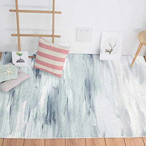 QUD Alfombra Dormitorio Amazon Colección geométrica Manta de área Azul Abstracto 10/24 (Color : A, Size : 160CMX230CM)