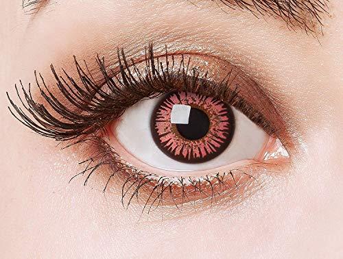 aricona Kontaktlinsen - Rosa Kontaktlinsen Cosplay Kontaktlinsen - Farbige Anime, Manga, Cosplay Kontaktlinsen Circle Lenses für größere Augen, 2 Stück