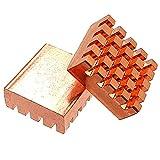 マルチ ヒートシンク 銅 接着シート付き サイズ 12mm × 13mm × 5.3mm IC-HSC02 (8個セット)