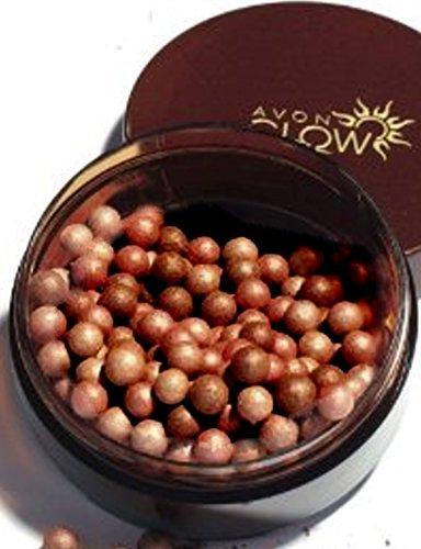 1a AVON (ARABIAN) GLOW Bronze-Puderperlen DEEPEST BRONZED für dunkle Haut --- 22g