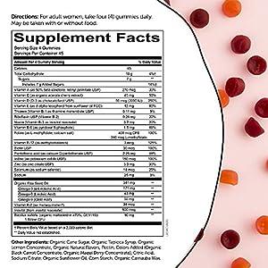 Daily Organic Gummy Prenatal Multivitamin: Biotin, Vitamin C, D3, E, B12, A, Omega 3, Zinc, Selenium, Niacin, Iodine, Choline, Methylfolate, Thiamine by SmartyPants
