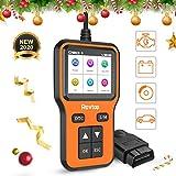 Rovtop OBD2 Scanner Auto Diagnostic Lire et Effacer Le Code de Défaut du Véhicule,OBD2 Diagnostic Surveillance des données en Temps réel, Surveillance de la Tension de la Batterie
