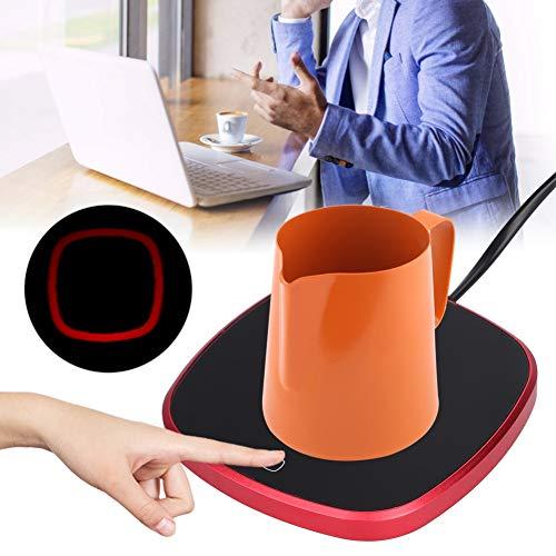 Socobeta Almohadilla calefactora fácil de usar, material resistente y duradero, para mantener el calor, portátil, para la oficina, para café o leche