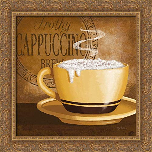 Middlebrook, Kathy 20x20 Gold Ornate Framed Canvas Art Print Titled: Frothy Cappuccino