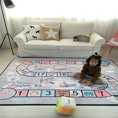 Lily et ses amies – Tapis de Jeu Kids Fun Jeu familial Tapis de jouet pour enfants, bébé souple jouer Ramper d'activité Safe Tapis, les deux sont livrés avec une peluche dés et de deux trains