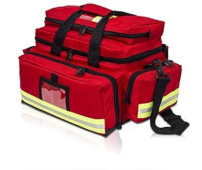 EVAQ8 Medical Trauma Bag Medium Size Red/Black Multiple Pockets Unkitted by EVAQ8