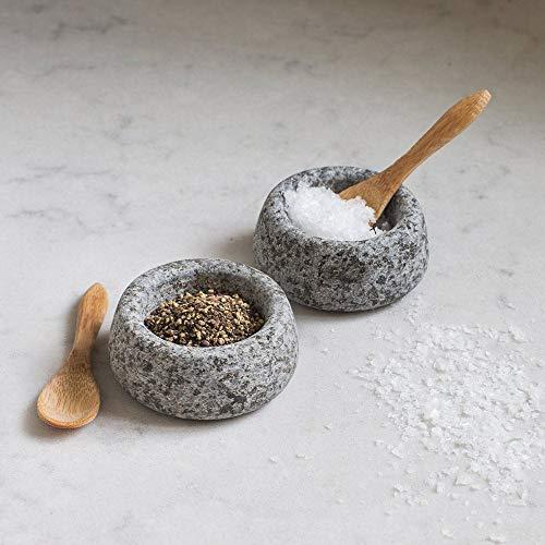 Garden Trading .SPGR01 Salt Pot, Wood, Grey