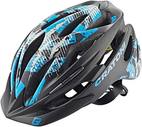 707799VAR - Casco bicicletta ciclismo PACER MTB COLORE NEGRO/AZUL TAGLIA 51-56