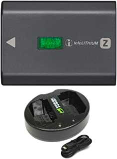 Sony NPFZ100 Z-Series Rechargeable Battery Pack (for a9 and a7rIII) with Dual Charger (2 Items)