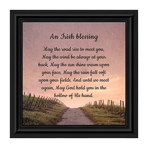 Irish Blessing Wall Decor, May The Road Rise Up to Meet You, Celtic Decor Home Blessing Sign, Irish Gifts for Women. Irish Wall Decor, House Warming Presents for New Home 8643B