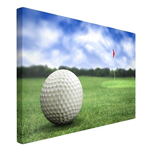 Bilderwelten Cuadro en Lienzo - Golf Ball - Apaisado 2:3, Cuadros Cuadro Lienzo Cuadro sobre Lienzo Cuadro Moderno Cuadro Decoracion Cuadros Decorativos Cuadro XXL, Tamaño: 40 x 60cm