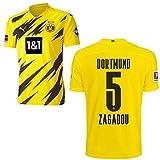 PUMA Borussia Dortmund BVB Heimtrikot 2020 2021 Home Trikot Sponsor BL Logo Herren Dan-Axel Zagadou 5 Gr XXL