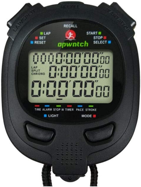 Fengshangshanghang001 ストップウォッチ、400メモリーゲームレフリータイミング用品、データをコンピューターにアップロード可能タイマー/メトロノーム(シルバー+グレー、74 * 60 mm) 、小さなタイミング誤差