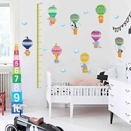 CSCZL Regla de medición de altura de crecimiento de dibujos animados para niños dormitorio extraíble impermeable azulejo puerta pegatinas de pared calcomanía decoración arte Mural