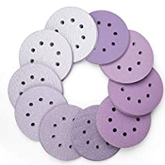 PROFESSIONAL GRADE: LotFancy purple sanding discs can last 2 - 3 times longer than other discs, delivering professional results across a wide range of applications; sandpaper discs are faster cutting, longer lasting, have better abrasion resistance, ...