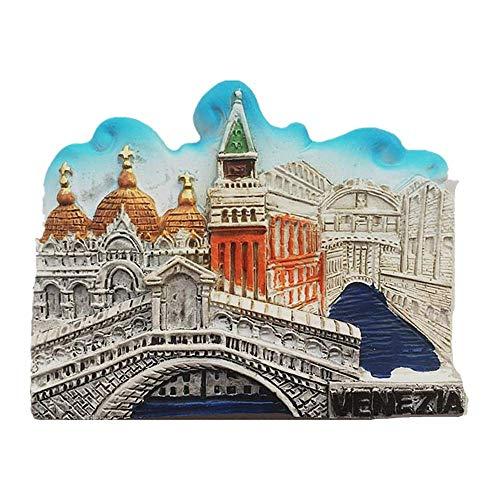 Magnete da frigorifero 3D Venezia Italia viaggio souvenir regalo collezione casa e cucina decorazione adesivo magnetico Venezia Italia frigorifero magnete