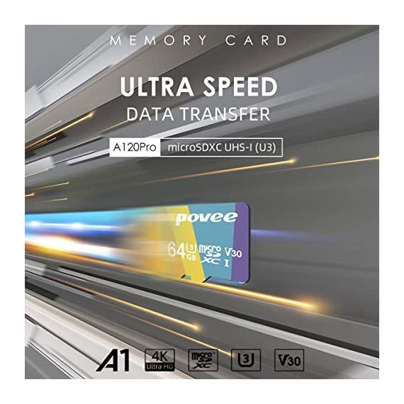 64GB Micro SD Card with Adapter,U3 MicroSDXC Card for Nintendo Switch, V30 Memory Card for Gopro Hero 7 Hero 8 Android… 3 U3 V30 High Speed: Read speed up to 100MB/s, write speed>35MB/s. High transfer speed will save your time of the data transferring.( Actual test speed base on USB3.0 card reader in USB3.0 Port, for devices that don't support UHS-I or USB2.0 port, the transmission speed will be different due to interface limitations.) Great Value for Nintendo Switch! Also great value for action camera like Gopro hero 7 hero 8 black,Yi, DJI Mavic Air Mavic Pro Series Phantom 4 Pro Phantom 4 Pro V2.0 Phantom 4 Advanced and other Drones. Good for 4K UHD video recording and high quality pictures. Good performance for use in Android Smartphones,Drones,Tablets, Action Cameras, Digital Cameras, Dash Cam, DSLRs and more. COMPATIBILE with most of the smart phone like Samsung Galaxy S10 S10+ S10e S9 S8 S7 A9 A6 A6+ Note 9 8 Tab S4 S3 J3; LG K30 G7 Q7 Q Stylus V40 V35; Sony Xperia XZ2 Premium Compact L2 XA2 Ultra Plus XZ1 L1 XZ; Amazon Fire 7 Fire HD 8 Fire HD 10; Moto E5,E6,G6,G7,Z3,Z4,Moto One