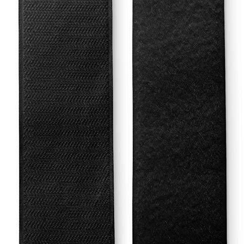 HAPPERS 1 Metro de Cinta de Velcro para Coser. Ancho 5cm Color Negro