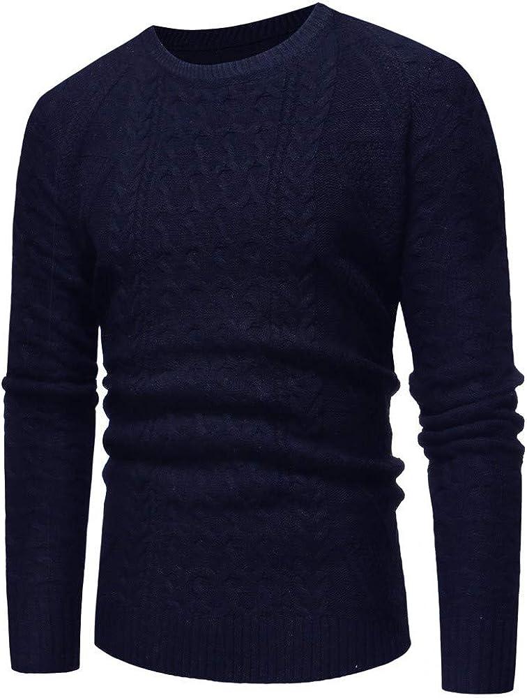 MODOQO Men's Knitted Sweater Long Sleeve Crewneck Warm Pullover Sweatshirt Tunic Outwear