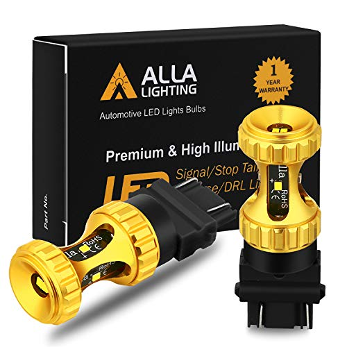 Alla Lighting 3156 3157 LED Bulbs 3000lm Extreme Super Bright Car Signal Reverse Stop Brake Tail Lights DRL T25 3057 3457 4157 4057, 6000K White