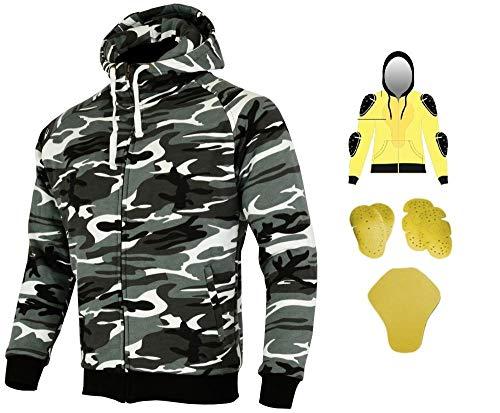 HEYBERRY Aramid Hoody Motorradjacke Hoodie Roller Jacke Camouflage Gr. XL