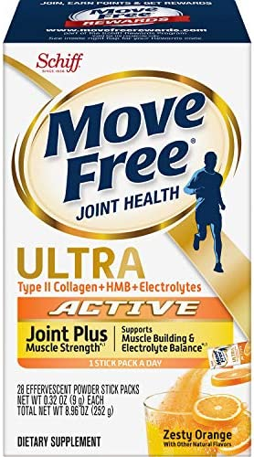 Type II Collagen HMB Electrolytes Move Free Ultra Active Joint Muscle Strength Effervescent product image