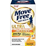 Move Free Type II Collagen, HMB, Electrolytes Ultra Active Joint + Muscle Strength Effervescent Powder Packs (28 Count in a Box), Immune Health, 0.32 Oz (Pack of 28), 8.96 Oz
