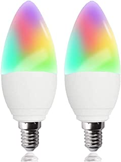 LED Candelabra Bulbs E12 Base Tunable White Chandelier Light Bulbs 320 lm 35w Equivalent Compatible with Alexa Google Home IFTTT 4 Pack Color Changing and Dimmable Smart Light Bulb