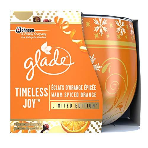 Glade Duftkerze Timeless Joy Lufterfrischer Splitter von Orange epicée 120g–3Stück