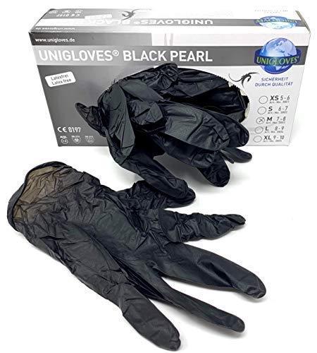 TATTOO Handschuhe UNIGLOVES Black Dragon NITRIL Größe M- Schwarz - INKgrafiX® Deutschland - PROFI STUDIO IG42064 Hygiene PIERCING