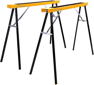 Portable Folding Sawhorse, Heavy Duty Twin Pack, 275 lb Weight Capacity Each 2 Pack