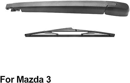 SLONGK Brazo del Limpiaparabrisas Trasero Y Escobilla del Limpiaparabrisas Trasero, para Mazda 3 2003-