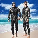Hombres de Neopreno de 3 mm de Dos Piezas Traje de Pesca submarina bajo el Agua Deportes Snorkeling Buceo con Traje de Buceo Surf (Size : XL)