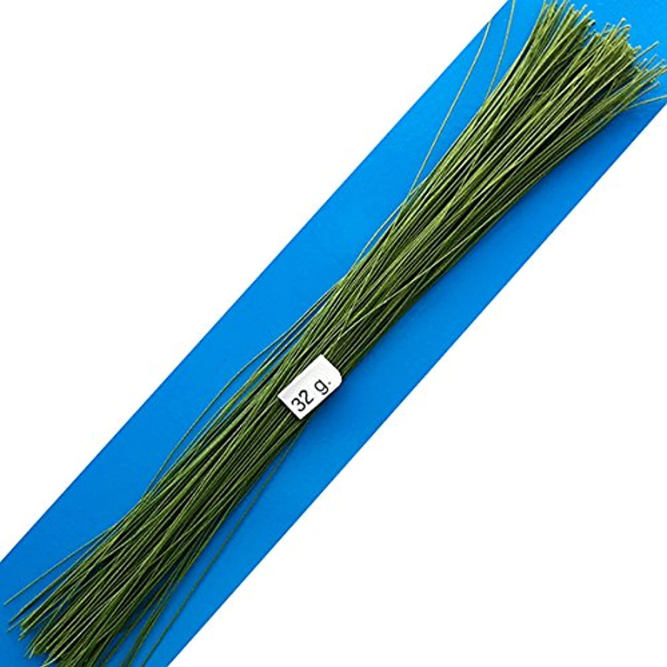 32 Gauge Green Cotton Covered Floral Wire - 130 feet per Bundle (39.6m) in 12 inch (30.5cm) Lengths