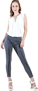 Women's High Waist Lace Up Detail Leggings
