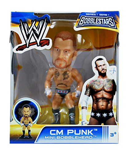 "WWE 3.5"" Bobble Head Figures- CM Punk"