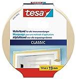 tesa Malerband CLASSIC - Abdeckband zum Abkleben bei Malerarbeiten - lösungsmittelfrei, rückstandslos entfernbar - 50 m