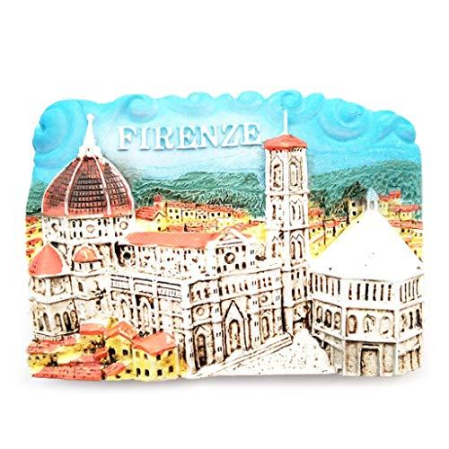 Fugift 3D World Travel Italie Fance Rome Willis Mémorial en résine Reflection igérateur FÉIGERATEUR FÉIDGE Aimant de Décoration de Maison Souvenir Accessoires