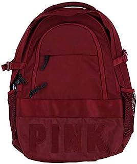 Victoria`s Secret Pink Collegiate Backpack Burgundy Ruby Dark Red School Book Bag