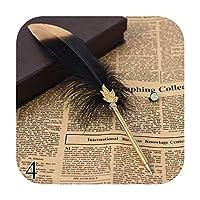 1ピースかわいい羽ボールペン0.5ミリメートルかわいいボールペンゴールドパウダーペン執筆学校事務用品ノベルティ文房具-4-