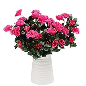 Silk Flower Arrangements Mynse 2 Bunches Simulation Flowers for Home Decoration Women Gift Artificial Flowers Azalea