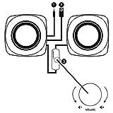 Hama PC Lautsprecher Sonic Mobil 183 (USB 3.0, 3,5 mm Klinke, 3 W, aktive Boxen für Computer, Laptop, Notebook, Smartphone, Tablet) schwarz/rot - 4