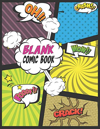 Blank Comic Book: Make your own comic book kit, Sketchbook for Kids...