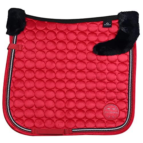 HV Polo Tapis de Selle Furry Luxury - Rouge-Dressage Cheval